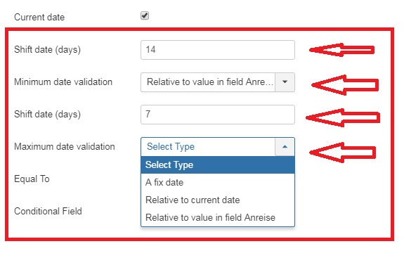 Additional Date Field Options