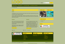 Joomla Template Yellow