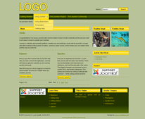 Freies Joomla Template Yellow