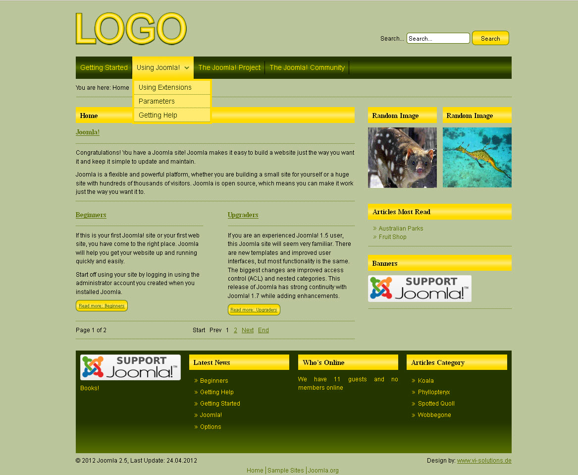 Free joomla template yellow yellowavj25 maxwellsz